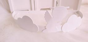 Dossel De Parede Branco Anjo Nuvem P/ Véu Mosquiteiro Berço