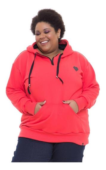 Blusão Moletom Maxi Plus Size Wonder Size Vermelho