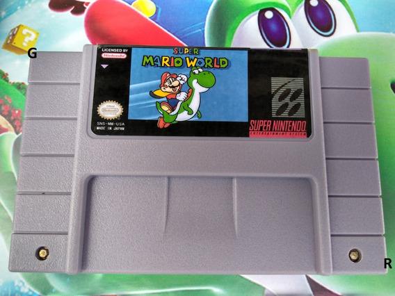 Mario Fita Jogo Cartucho Super Mario Nintendo Snes Salva