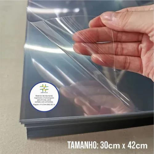 300 Folhas De Acetato Pet Transparente - 30x40cmx0,20mm Esp