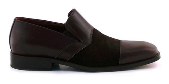Zapato Cuero Gamuza Hombre Briganti Casual - Hccz01027 Vg