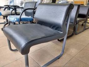 Cadeira Poltrona Fixa Em Couro