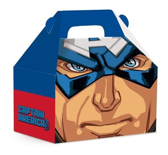 10 Caixas Maleta Surpresa Capitão America Vingadores Marvel