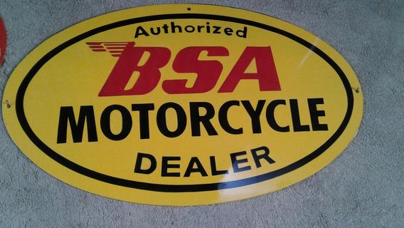 Bsa Motorcycle. Metal. Artesanal .pintura Automotiva