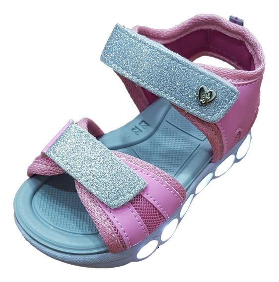 Sandálias Infantil Papete Led Botinho Com Velcro Tam 20 A 27