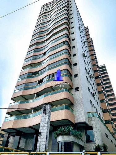 Apartamento Com 3 Dorms, Aviação, Praia Grande - R$ 450 Mil, Cod: 1108 - V1108