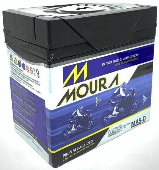 Bateria Ma5-d 5ah 12v Moura Moto Cg 125/ Pop 100