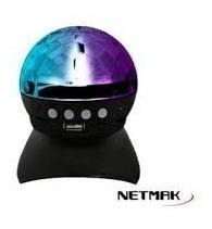 Parlante Netmak Funk Portatil Bluetooth Luz Led Boliche
