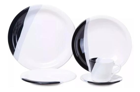 Aparelho De Jantar Jogo 20 Pçs 01920/04p Ceramica Brasilia