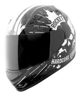 Casco Joe Rocket Rkt 7 Hardcore Canadian Negro/cromo