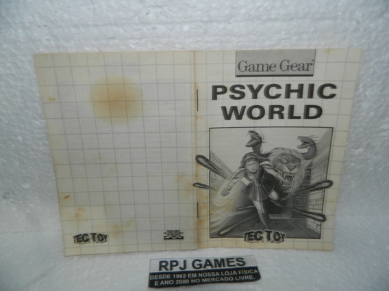 Só O Manual Game Gear Do Jogo Psychic Wold - Loja Centro Rj