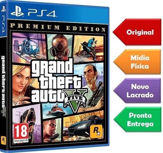 Gta 5 Premium Edition Ps4 Mídia Física Lacrado Original