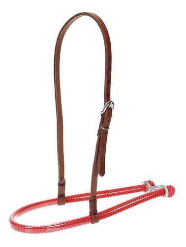 Imagem 1 de 2 de Gamarra Para Cavalo Top Equine De Couro E Peia Vermelha 2090