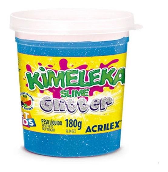 Kimeleka Slime Azul Glitter Art Kids 180g