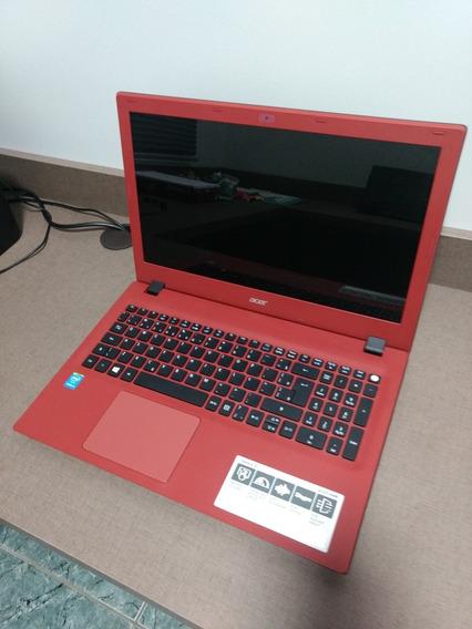 Notebook Aver Vermelho Seminovo Modelo E-15 E-573