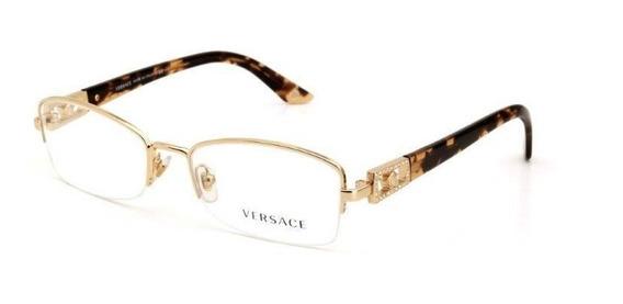 Óculos De Grau Metal Feminino Versace Mesclado Dourado