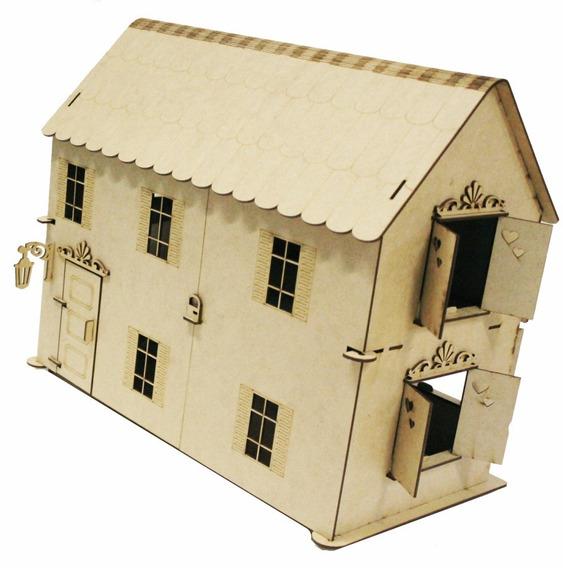 Casa Casinha Articulada Boneca Polly +27 Móveis Mdf C