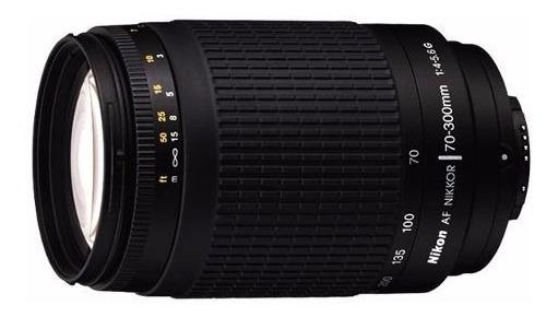 Lente Nikon Af Zoom Nikkor 70-300mm F/4-5.6g 12x S/juros