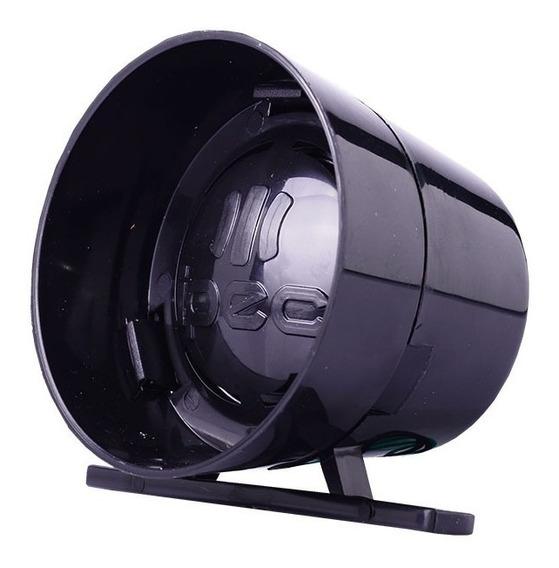 Sirene Preta Ipec Compacta Alarme Alta Potência 120db 12v