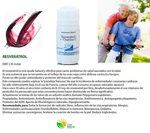 Resveratrol--antioxidante-vitamina C-vida Natural