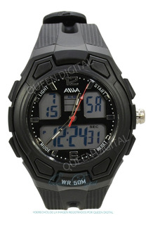 Reloj Sumergible Deportivo Dual Cronometro Alarma Luz Hombre