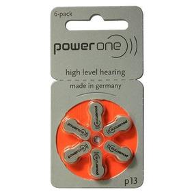 10 Cartelas De Bateria Para Aparelho Auditivo- Power One P13