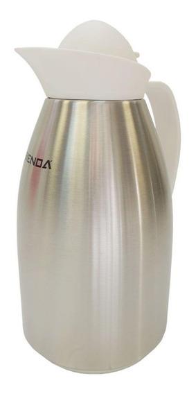 Garrafa Térmica Benoá Kb10ss Bolinha 1 Litro Inox Branca
