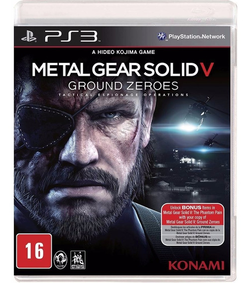 Metal Gear Solid V Ground Zeroes Ps3 Original Mídia Física