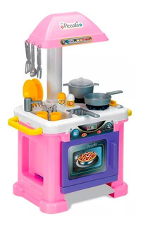 Juguete Cocina Nena Infantil Piccola Rondi Con Accesorios