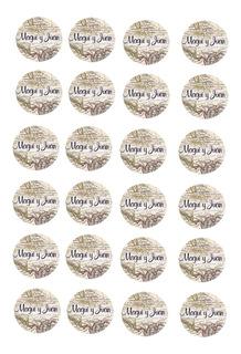Plancha De Stickers P/ Sobres Personalizados Boda 15 Años