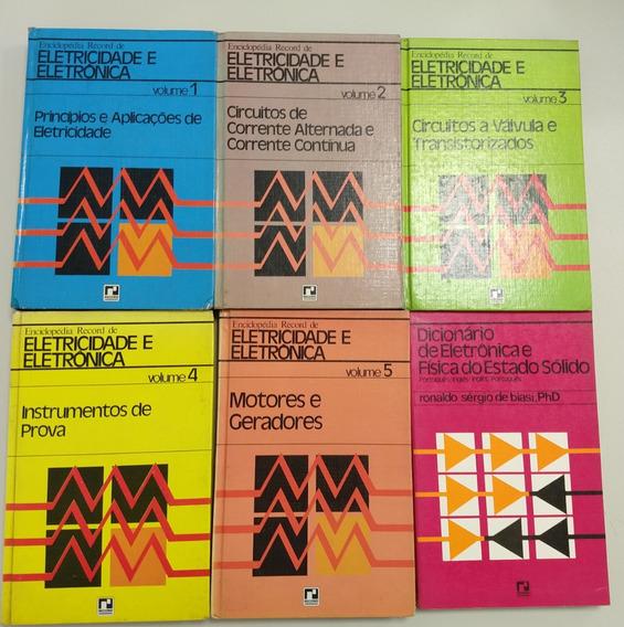 Enciclopédia Record De Eletricidade E Eletrônica (6 Volumes)