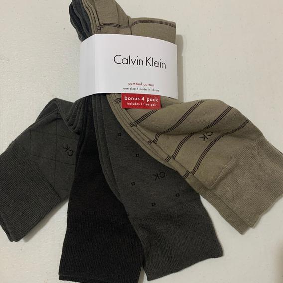 Pack 4 Par Calcetines Calvin Klein Ck Colors