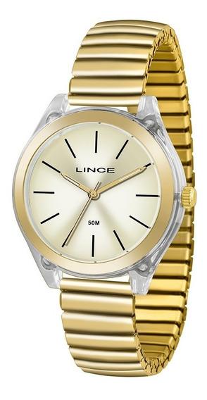 Relógio Feminino Dourado Lince Lrg4484p C1kx Dourado