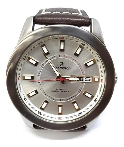 Relógio Champion Ca30374 Original Usado - Caixa De Aço Inox