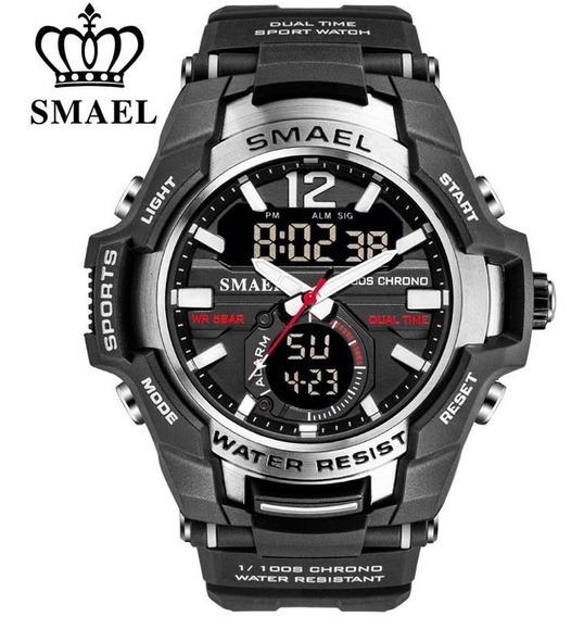 Relógio Masculino Esporte Preto S-shock Smael Prova D