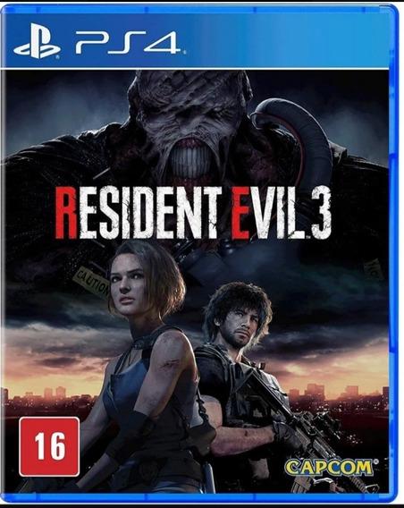 Resident Evil 3 Ps4 Mídia Física Envio Imediato.