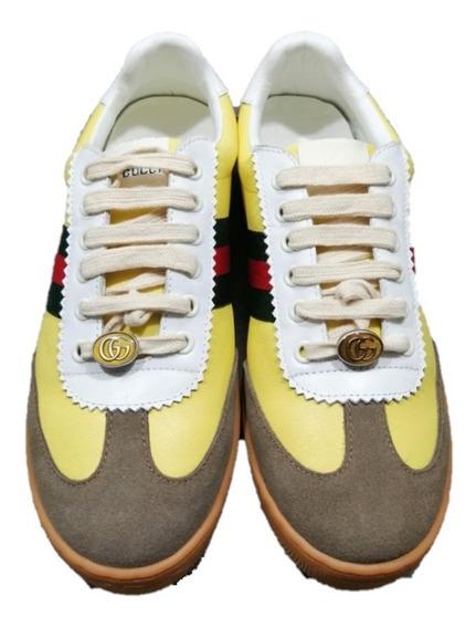 Tenis Sneakers Gucci Screener Yellow Envio Gratis