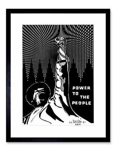 9 X 7 Propaganda Poder Politico Negro Panther Personas Enma