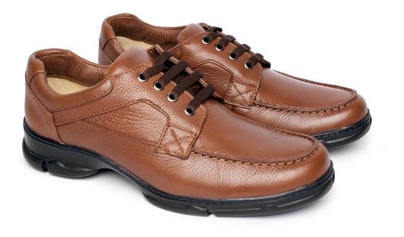 Sapato Masculino Em Couro Conforto Tipo Anti Estresse 2002