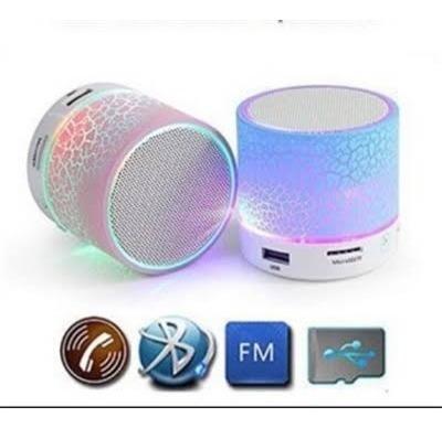 4 Caixinhas De Som Com Luz De Led Com Bluetooth + Brinde