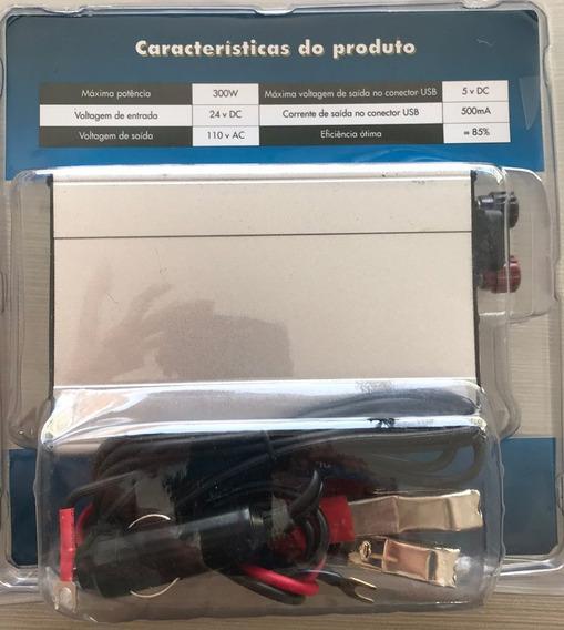 Inversor De Corrente Veicular 24v Para 110v Potência 300 W