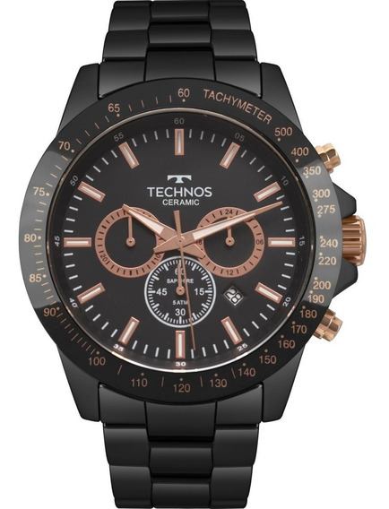 Relógio Masculino Technos Js25bu/4p 47mm Ceramic Preto