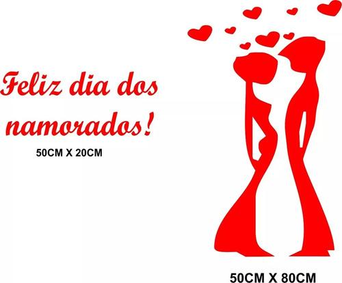 Imagem 1 de 2 de Adesivos Vitrine Dia Dos Namorados Decoração Loja Amor