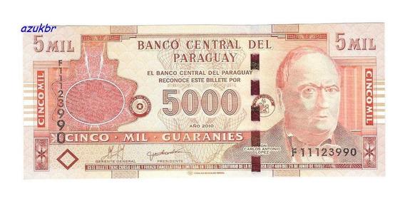 * Paraguai - 5000 Guaranies 2010 - P.223c - Fe *