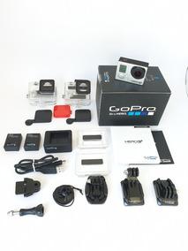 Gopro Hero 3+ Black C/ Dome Bastão Estojo Bateria E Mais 3 +