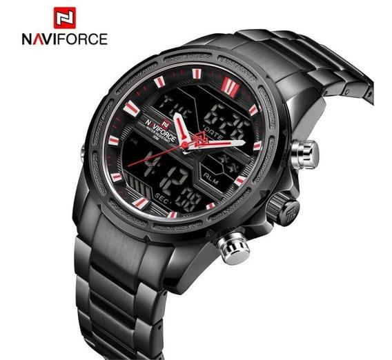 Relogio Naviforce 9138 Original, Aço Inoxidável, Promoção