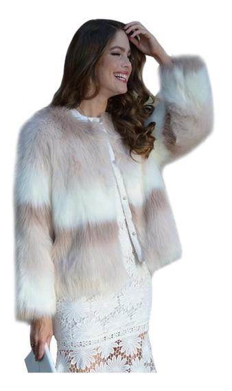 Abrigo Imitación De Mink, Sexy, Corto, Elegante, Faux Fur.
