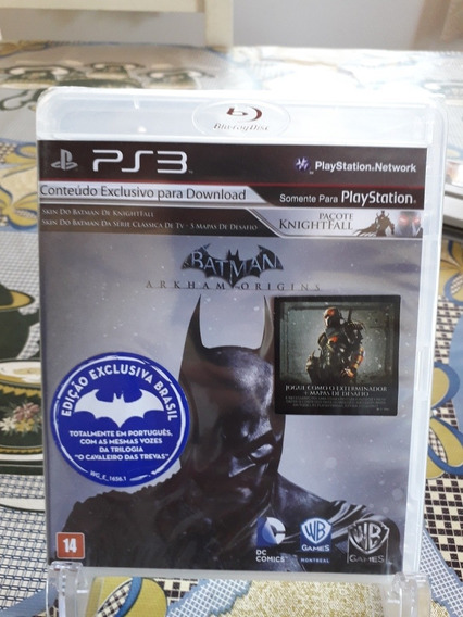 Batman Arkham Origins Ps3 Fisica Novo