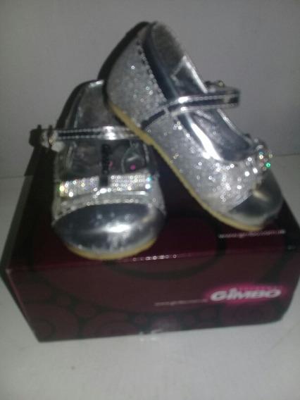 Zapatos Brillantes Para Niña Talla 18