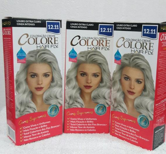 Colore Em Creme Perm.coloraçaohair Fly Cor 12.11 C/3 Caixas